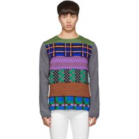 Comme Des Garcons Shirt Multicolor Multipattern Wool Gauge 14 Sweater