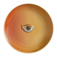 L'objet Lito Eye Canape Plate Orange Yellow