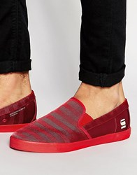 G Star G Star Dex Mono Slip On Plimsolls Red