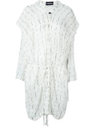 Ann Demeulemeester Lightweight Oversized Coat White