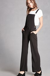 Forever 21 Goldie London Crepe Overalls Black