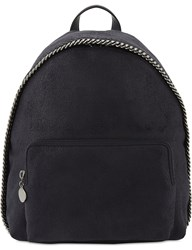 Stella Mccartney Fallabella Mini Shaggy Deer Backpack Navy