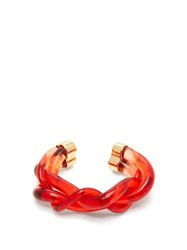 Marni Braided Perspex Cuff Red