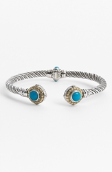 Konstantino 'Hermione' Hinged Cuff Silver Turquoise