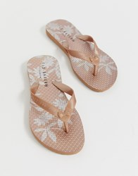 Ted Baker Rose Gold Flip Flop