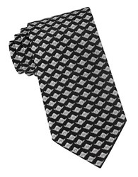Star Wars Neat Yoda Print Tie Black