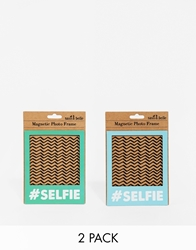 Gifts Pack Of Two Selfie Magnetic Photo Frames Multi