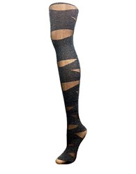 Versace Striped Tights Black