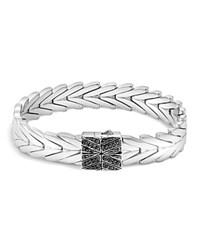 John Hardy Sterling Silver Modern Chain Bracelet With Black Sapphire And Black Spinel Black Silver
