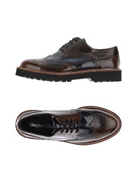 Giorgia And Johns Lace Up Shoes Brown