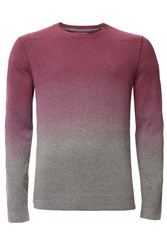 Calvin Klein Men's Secur Cn Ombre Long Sleeve Sweater Red