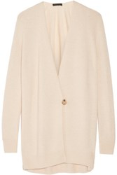 The Row Eleset Cashmere And Silk Blend Wrap Cardigan Beige
