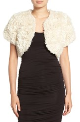 Jocelyn Women's 'Bleach' Genuine Rabbit Fur Shrug Bleached White