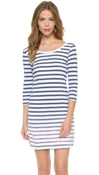 Splendid Sunfaded Stripe Jersey Dress Navy