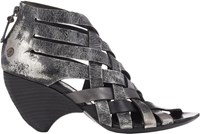 Marsell Woven Back Zip Sandals Black