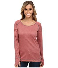 Hot Chillys Geo Pro Scoopneck Rose Heather Women's Long Sleeve Pullover Brown