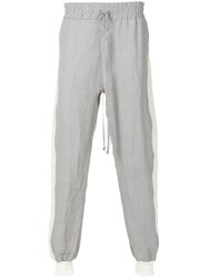 Lost And Found Ria Dunn Side Stripe Easy Pants Ramie Cotton Grey