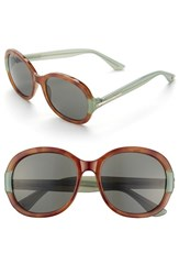 Women's Ivanka Trump 56Mm Sunglasses Honey Tortoise
