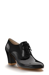 Women's Shoes Of Prey Patent Leather Oxford Bootie 2 3 4' Heel