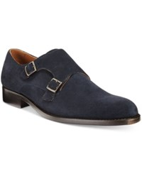 Tasso Elba Men's Matteo Double Monk Loafers Only At Macy's Men's Shoes Navy