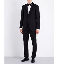 Corneliani Regular Fit Wool And Mohair Blend Suit Black