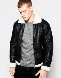 Minimum Jacket With Faux Shearling Lining Black