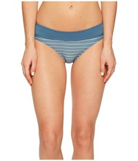 Carve Designs Catalina Bottom Water Stripe Indigo Women's Swimwear Blue