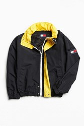 Urban Outfitters Vintage Tommy Hilfiger Black Yellow '90S Prep Sport Windbreaker Jacket