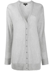 Theory Knitted Cardigan Grey