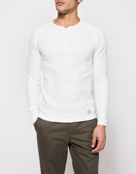 Neighborhood B Waffle Henley White