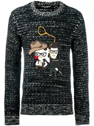 Dolce And Gabbana Western Designers Patch Jumper Black