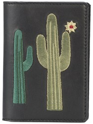 Lizzie Fortunato Jewels Embroidered Cactus Note Wallet Black
