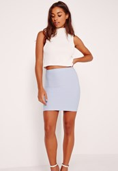 Missguided Bandage Mini Skirt Blue Blue