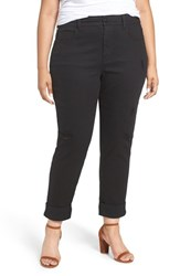 Melissa Mccarthy Seven7 Plus Size Women's Destructed High Rise Stretch Girlfriend Jeans