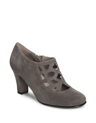 Aerosoles Caged Microsuede Shooties Grey