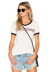 Rvca Retro Stripe Tee White
