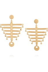 Paula Mendoza The Little Backbone Gold Plated Earrings