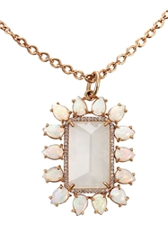 Irene Neuwirth Rainbow Moonstone Pendant Necklace Metallic