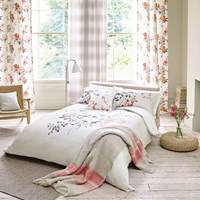 Sanderson Magnolia And Blossom Coral Duvet Cover Pink