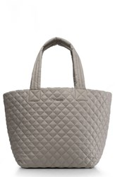 M Z Wallace Mz 'Medium Metro' Quilted Oxford Nylon Tote Grey Paloma
