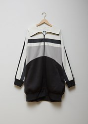 Y 3 Unisex Oversized Varsity Track Top Off White Archive Grey Carbon Black Off White Archive Grey Carbon Bl