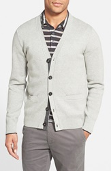 Jack Spade Combed Cotton Cardigan Light Grey