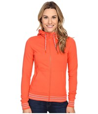 The North Face Stretch Logo Full Zip Hoodie Radiant Orange Women's Sweatshirt