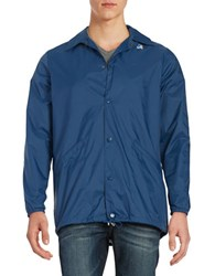 K Way California Coach Jacket Deep Blue