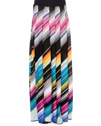 Missoni Angled Stripe Maxi Skirt Black Multi