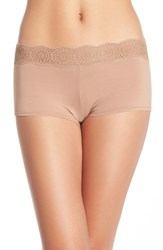Free People Women's Medallion Lace Waistband Boyshorts Nude