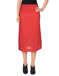 Manila Grace 3 4 Length Skirts Coral