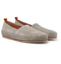 Mulo Suede Loafers Gray