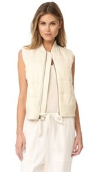 Vince Quilted Vest Bleached