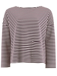 People Tree Libby Stripe Top Bordeaux